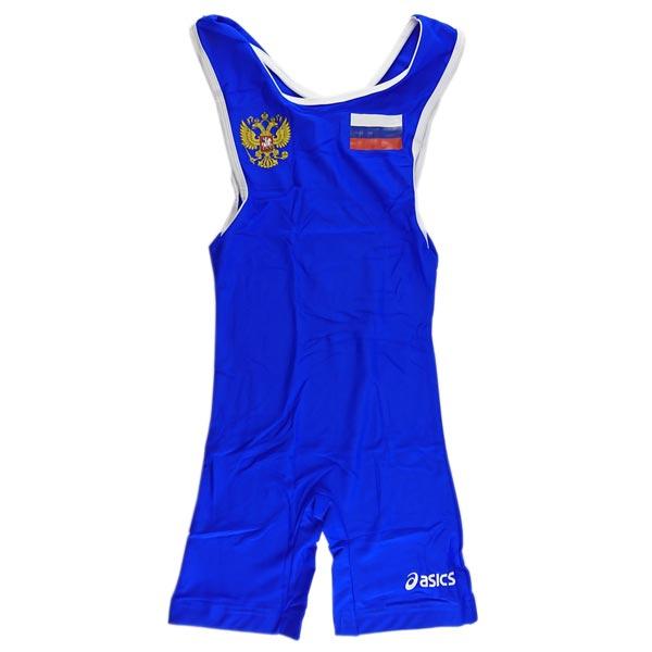 Трико борцовское ASICS (Russia) синее