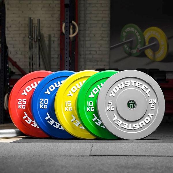 Диски каучуковые цветные d-51мм YOUSTEEL, 5-25 кг