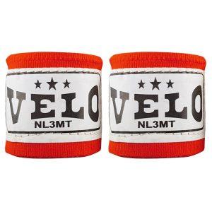 Бинты боксерские VELO 3м (хлопок) красные