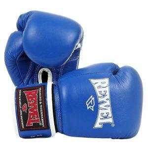 Перчатки боксерские RV-101 (нат.кожа) синие