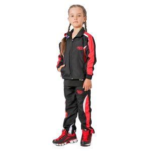 Костюм спортивный Green Hill (детский) черно-красный TSJ-10332K
