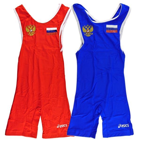 Трико борцовское ASICS (Russia) комплект красное и синее