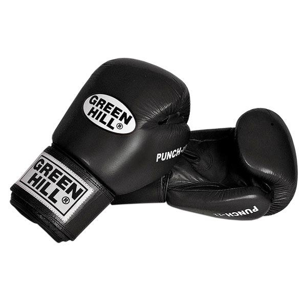 Перчатки боксерские Green Hill Punch II черные
