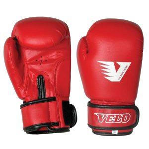 Перчатки боксерские VELO pvc красные