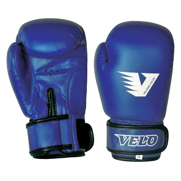 Перчатки боксерские VELO pvc синие