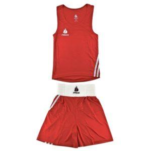 Форма боксерская FIRE ICE (майка и шорты) красная