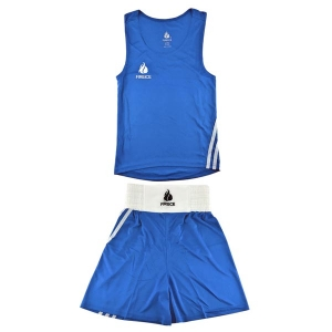 Форма боксерская FIRE ICE (майка и шорты) синяя