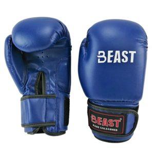 Перчатки боксерские BEAST pvc Machine Mold синие