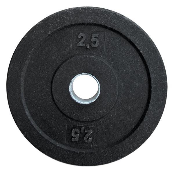 Резиновый диск для кроссфита d-51мм 2,5 кг