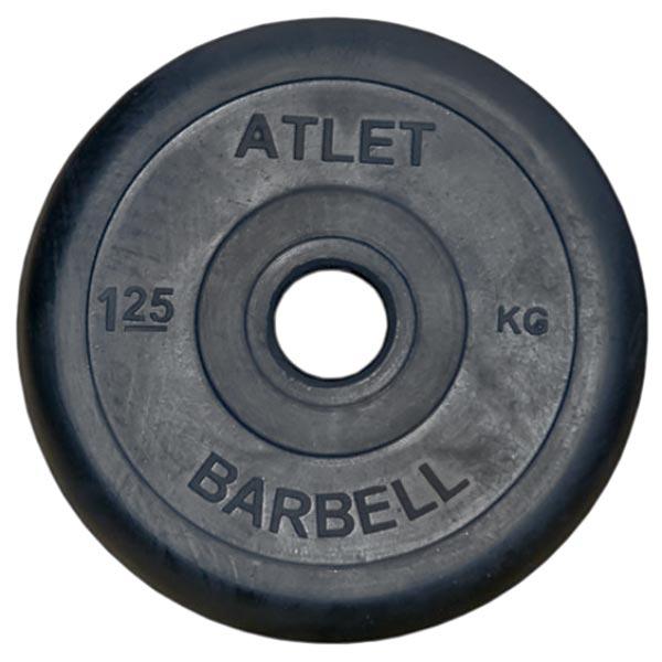 Диск обрезиненный Atlet d-26мм, 1,25 кг