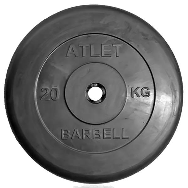 Диск обрезиненный Atlet d-31мм, 20 кг