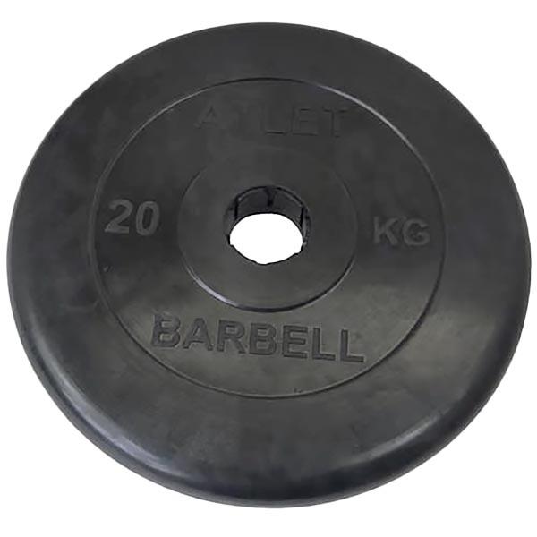 Диск обрезиненный Atlet d-51мм, 20 кг