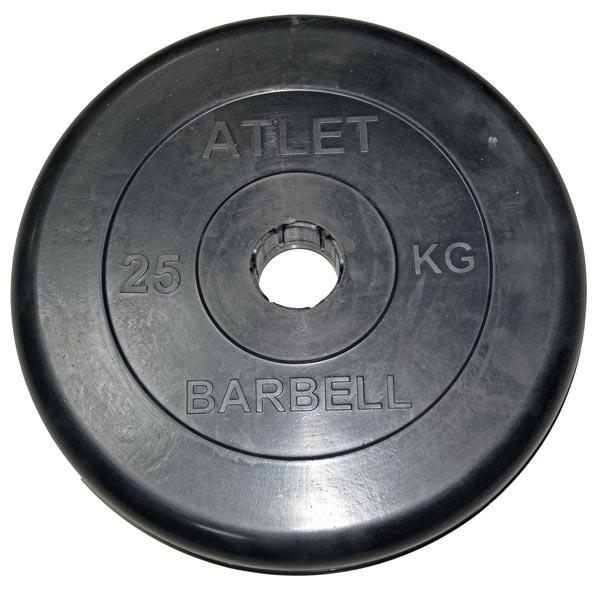 Диск обрезиненный Atlet d-51мм, 25 кг