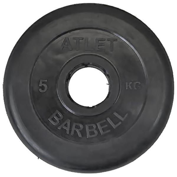 Диск обрезиненный Atlet d-51мм, 5 кг
