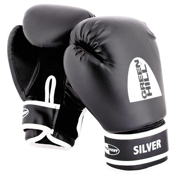 Боксерские перчатки Green Hill silver BGS-2039